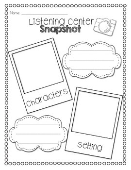 Listening Center Response Sheets by Teaching With Heart by