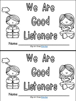 Listening Emergent Reader Kindergarten or 1st Grade- Rules