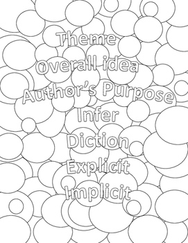 Literary Devices Coloring Pages: High School or Middle