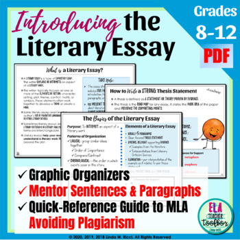 Examples Of A Literary Analysis