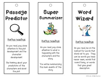 Literature Circles Bookmarks FREEBIE by Inspired