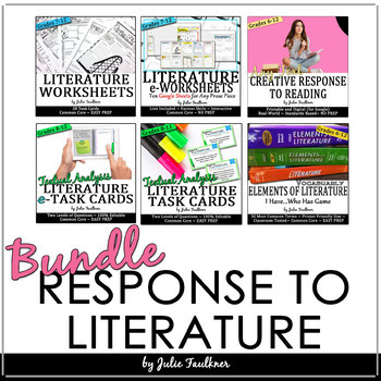 Teaching Literature BUNDLE: Comprehension, Analysis, & Assessment for ANY TEXT