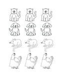 The Little Red Hen Characters Worksheets & Teaching