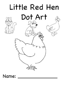 Little Red Hen Dot Art (Speech, Literacy) by Autism Speech
