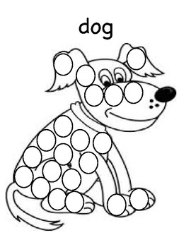 Little Red Hen Dot Art (Speech, Literacy) by Autism Speech