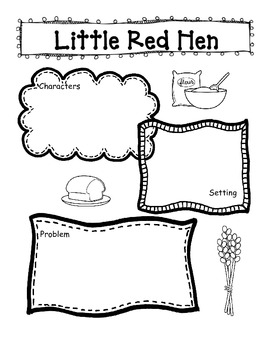 Little Red Hen Story Retell and Writing by Ladybug in
