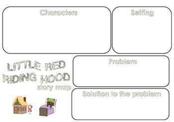 Little Red Riding Hood Story Map Fairytales by Rachel's