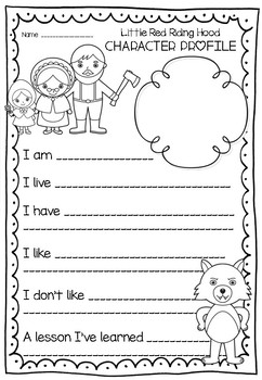 Little Red Riding Hood Writing Unit and Craftivity by
