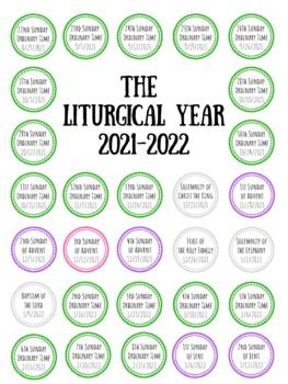 Free Printable Catholic Liturgical Calendar 2020 : printable, catholic, liturgical, calendar, Liturgical, Calendar, 2020-21, Katie, Prokosch, Teachers