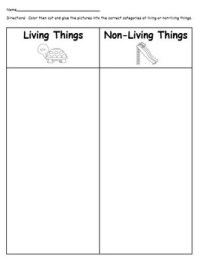 Living and Non-living things sorting worksheet by Jayme ...