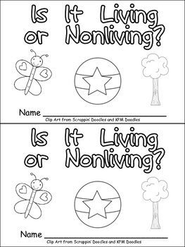 Living or Nonliving Things Emergent Reader for