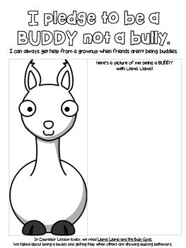 Llama Llama and the Bully Goat Worksheet by Hashtag School