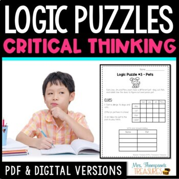 Logic Puzzles Galore  Reading Comprehension & Critical Thinking Activities