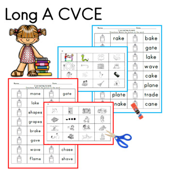 Long A CVCE worksheets and center ideas by Sailing Through