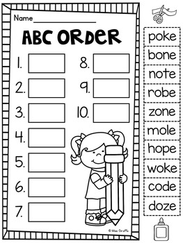 Long O Worksheets and Activities {NO PREP!} by Miss