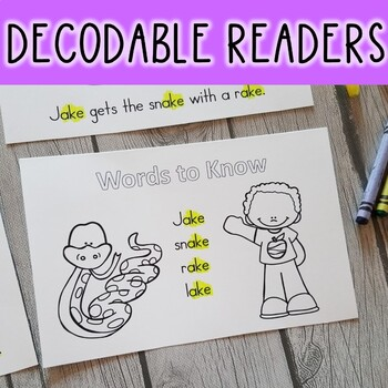 Long Vowel & CVC Word Decodable Stories (11 Books for