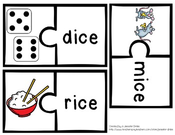 Long Vowel Puzzle Pack for all 4 Long Vowels ~84 Puzzles