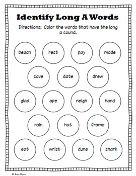 Long Vowels: Word Lists, Posters,