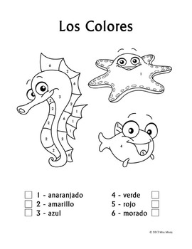Spanish Number Coloring Sheets Sketch Coloring Page