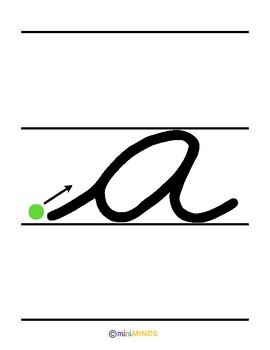A In Cursive : cursive, Lowercase, Cursive, Writing, Large, Letters