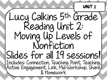 Lucy Calkins Unit Plans: 5th Grade Reading Unit 2-Moving