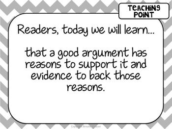 Lucy Calkins Unit Plans 5th Grade Reading Unit 3-Argument