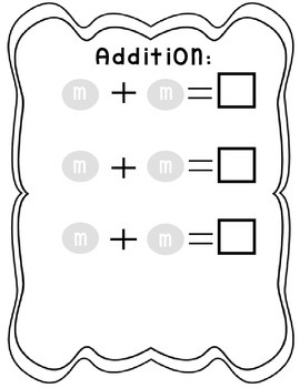 M & M Math Book:Graphing, Add / Subtract, Count By's, 10