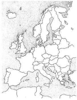 BLANK MAP OF EUROPE! Fun coloring/labeling activity for