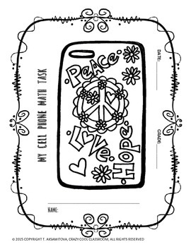 MATH PERFORMACE TASK: DESIGN YOUR OWN CELLPHONE COVER by