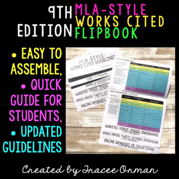 MLA Style 8th Edition Works Cited Flipbook by Tracee Orman
