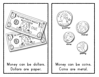 MONEY Emergent Reader for Kindergarten: Social Studies