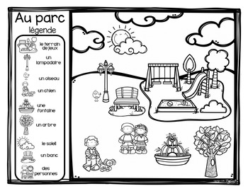 FRENCH Mapping Skills Ma communauté by Peg Swift French