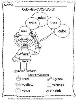 Magic E Reading & Fun ~Color By CVCe Word~ A Phonics