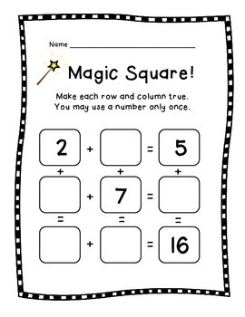 Magic Square! Fun Puzzles for Math Facts and Reasoning by