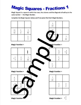 Magic Squares Fractions