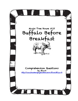 Magic Tree House #18 Buffalo Before Breakfast