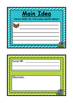 Main Idea & Details Comprehension Activities by