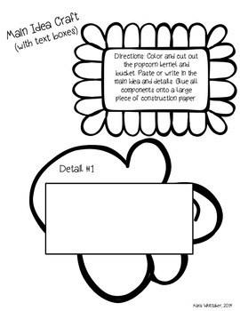 Main Idea Graphic Organizer & Craftivity by Teaching