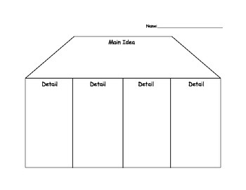 Main Idea House Graphic Organizer By What We Get Up To TpT
