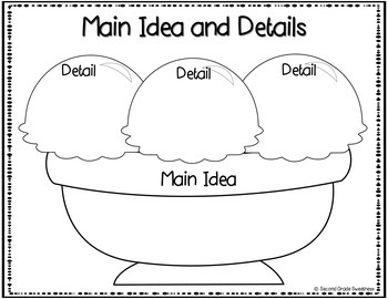 Main Idea and Details Activities Pack by Second Grade