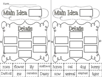 Main Idea and Details {activities and task cards} by Megan