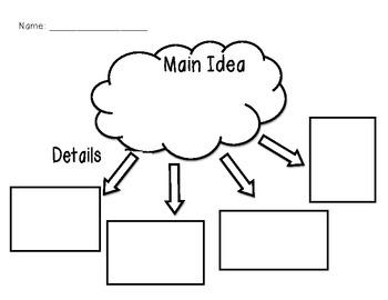 Main Idea/Detail Graphic Organizer by Kristen Brooks