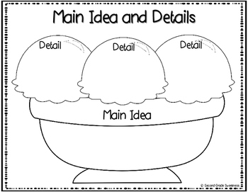 FREEBIE: Main Idea and Details Graphic Organizer by