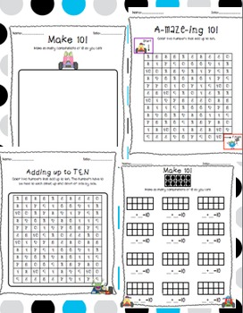 Make Ten / Tens Frames / Games for Making Ten by Brigid