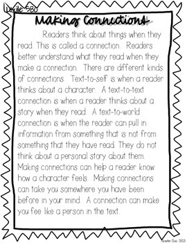 Making Connections! {Differentiated Reading Passages