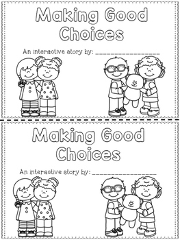 Making Good Choices Interactive Reader {School Rules} by