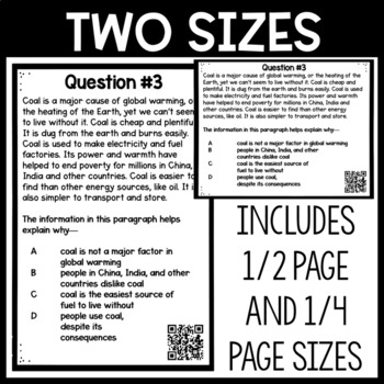 Making Inferences in Nonfiction Task Cards by I Teach Like