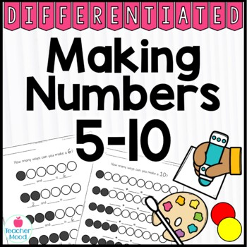 Making Numbers 5-10 Common Core Math Work Station