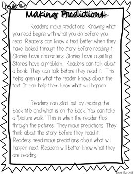 Making Predictions! {Differentiated Reading Passages