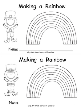 Making a Rainbow Emergent Reader- Kindergarten- St
